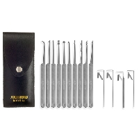 L-Fourteen Piece Lock Pick Set With Metal Handles
